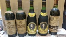 1976 Faustino V Reserva  x 2 bottles - 1976 Marques de Arienzo Grand Reserve x 2 bottles -  1973 Vina Tondonia x 1 bottle / 5 bottles in total