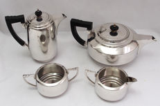 Fine Quality Silver Plated 4 Piece Tea Set, Baker Brothers, England - Early 20th Century