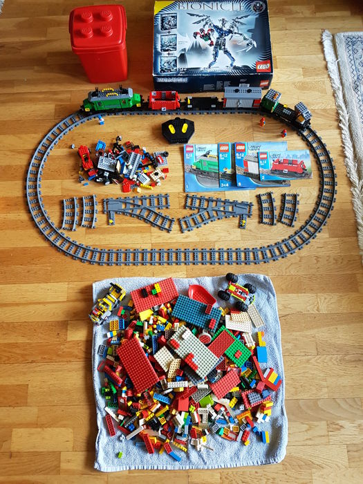 Train - 7898 + Bionicle 10202  + 2 kg Lego