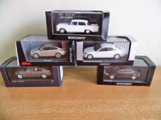 Various - Scale 1/43 - Lot with 5 models: Mercedes-Benz, Opel, VW & BMW