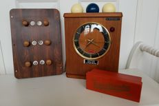 Vintage Prism Billiard Table clock with balls and scoreboard