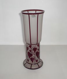 Zbynek Votocek - glass vase, reproduction of a design by Hans Bolek for Loetz Witwe