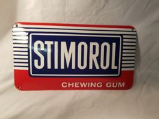 Convex Enamel sign - Stimorol chewing gum - 1980