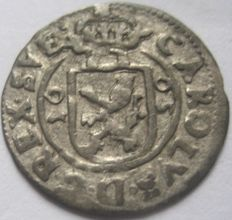 Tallinn, Karl XI King of Sweden coinage for Tallinn - Silver ore 1665