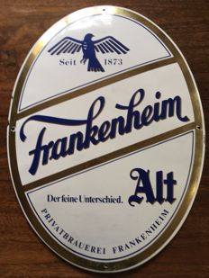 Frankenheim Alt - Enamel advertising sign