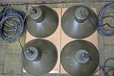 OG-200 Polam - Four vintage Industrial Lamp