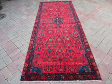 Semi Antique Genuine Hand Knotted Persian Rug 284 x 112 cm