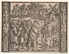 Niklaus Manuel I (Swiss 1484 - 1530)  Attributed: The Choise of the Apostles - Ca. 1525 / and two woodcuts by Christoffel van Sichem (1580-1658)