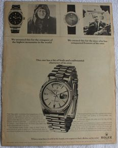 Rolex Advertising - 1965 - Original - Explorer Oyster Perpetual Chronometer