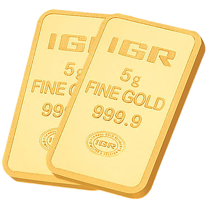 IGR- 5 + 5 gr. - 999/1000 - Minted/ Sealed