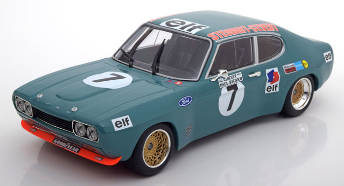 Minichamps - Scale 1/18 - Ford Capri RS 2600 #7 - Limited 450 pcs - 6h Paul Ricard 1972 - Drivers: Stewert/Cevert