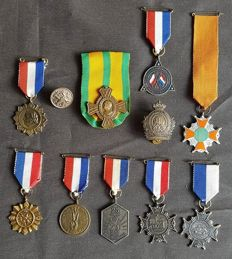 Collection of commemorative medals WW2