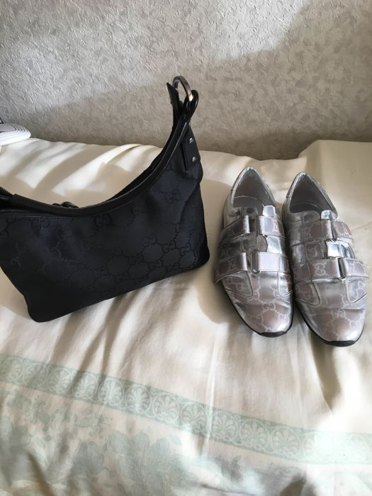 Gucci trainers and women's bag, no reserve price