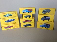 Atlas-Dinky Toys - Scale 1/43 - lot of 10 cars and trucks: Ford, Lincoln, Studebaker, Hotchkiss-Willys & Jeep