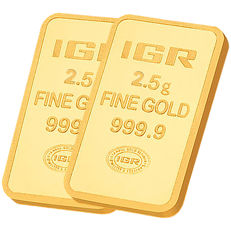 2,5 + 2,5 g -Total 5g - Ouro .999 (24 quilates) - IGR - Seal+Certificado