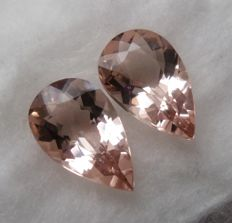 Morganite Matching Pair – 4.10 ct Total