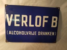 Enamel sign - 1950