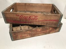 Two vintage crates from the USA, Coca-Cola / Chesterman (rare) - 1970s