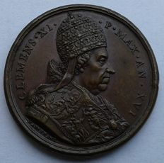 "Papal State - Medal - 1715 - Year XVI - Rome - Clement XI - ""War Against the Turks"""