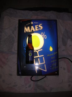 Advertising sign Maes Zero - with lighting