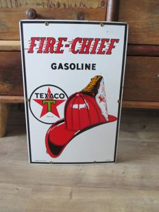 Enamel advertising sign Texaco gasoline - 2nd half 20th century