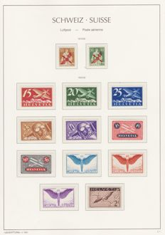 Swiss 1920-1949 - airmal stamps