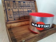 Set MARTINI - Lot of an old crate of MARTINI & ROSSI and an ice holder - Italy - 80s