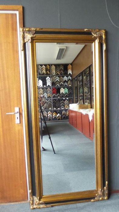 Huge mirror with facet cut glass - 90x190cm -