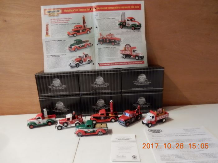 Matchbox - Scale 1/43 - Lot with 6 models: 92119 to 92125 the Matchbox Texaco collection