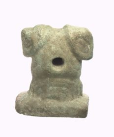 Mythological idol, double-headed, Sindschirli / northern Levant, stone - height = 7.1 cm
