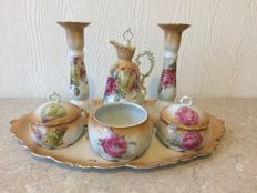 H. Wehinger (Bohemia) Porcelain Dressing Table Set