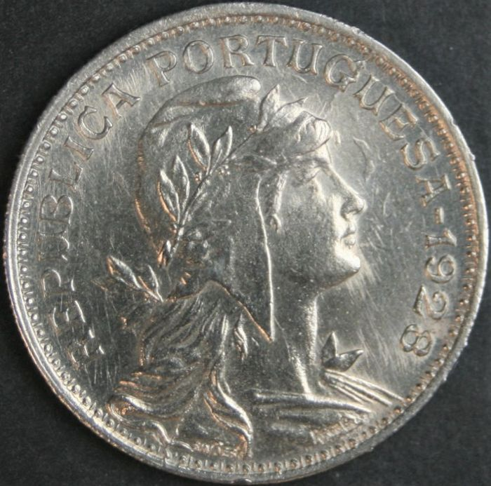 Portugal – Republic – 50 Centavos 1928 – Alpaca