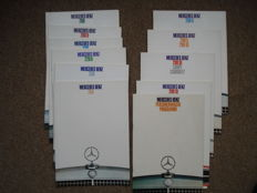 14 original Mercedes-Benz brochures, 13 from 1967 and 1 from 1968