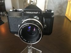 Beautiful Nikkormat camera, with bag and grip
