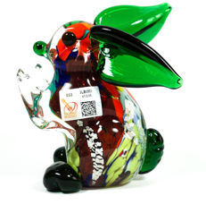 Mario Costantini (Murano) - Sommerso rabbit sculpture