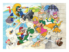 Super Mario Illustrations - Nathan GAMES. (Puzzles)