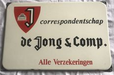 De Jong&comp insurance sign, from the 50s
