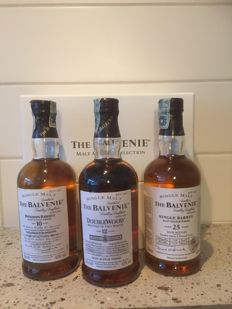 3 bottles - Balvenie Tasting Package, including 1974 - 2002