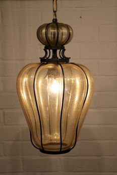 Large Venetian lamp - glass with metal