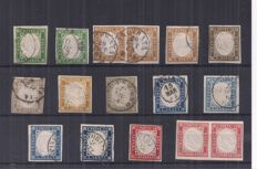 Sardinia 1855/1863 - Selection of IV issue stamps - various colours