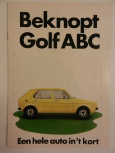 VOLKSWAGEN GOLF - 30 Brochures and factory photos - 1974 to 2004