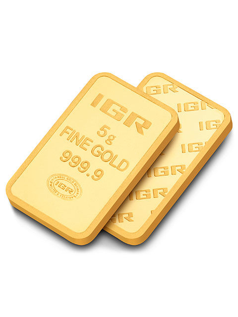 5 Gr Sealed  Fine Gold Bar 24K,