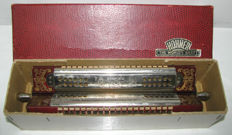 Very rare vintage 4 side harmonica, TREMOLO HOHNER brand - with case - Germany 1930