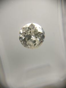 1.03 ct Round cut diamond H I1