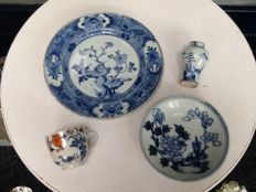 4 pieces of porcelain - China - 18th century