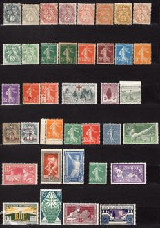 France 1900/1937 - Set of stamps