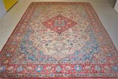 Persian carpet, Ghum/Iran – 20th century, circa 1970 – approx. 310 x 225 cm – with certificate of authenticity