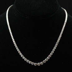Ladies Necklace with Brilliant cut Diamonds total 10.62 ct