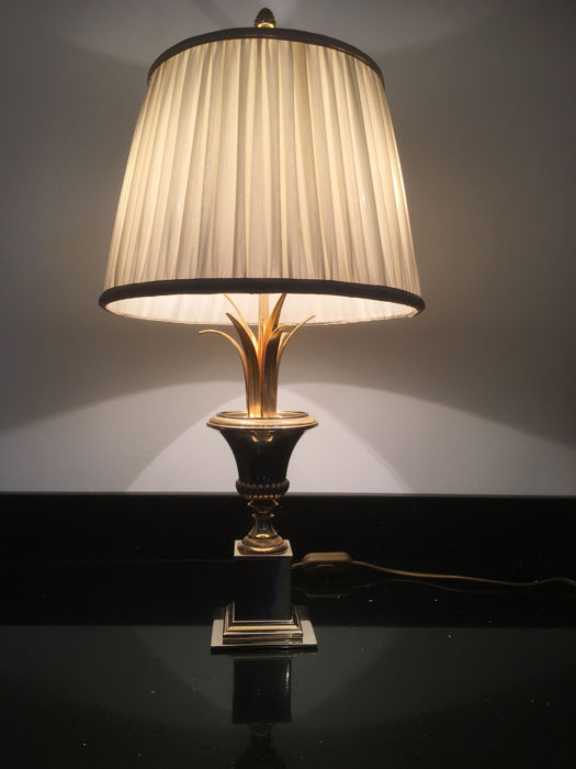 Designer unknown - palm table lamp - 1970s
