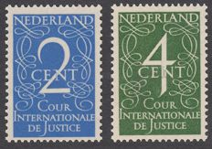 The Netherlands 1950 - International court of justice - NVPH D25/D26, with certificate